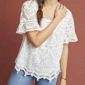 "Anthropologie Maeve ""Lovely"" Peasant Boho Top S"